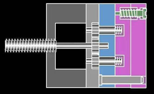 18. Motor unthreading die drawing