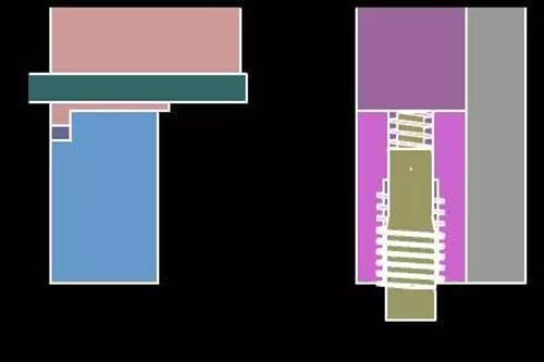 19. Side thread, motor disengagement diagram