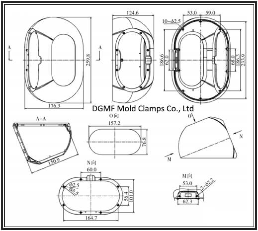 Figure 1 Shell engineering drawing