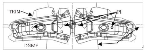 Figure 4 Trimmingpunching composite process