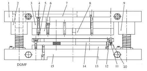 Figure 4 punch mold structure diagram