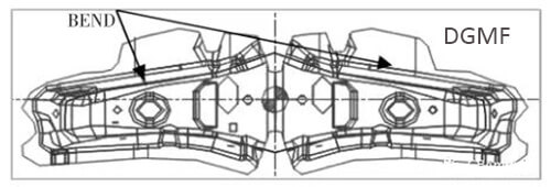 Figure 5 Bending shaping composite process