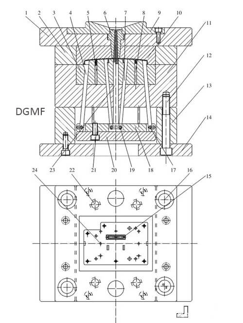 Figure 6 Die assembly structure diagram