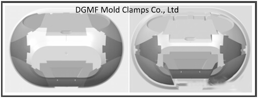 Figure 9 Comparison before and after center wedge extraction