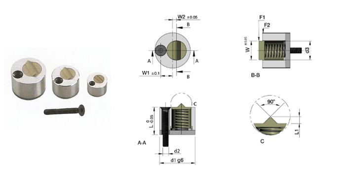 STRACK Round slide retainer mold component