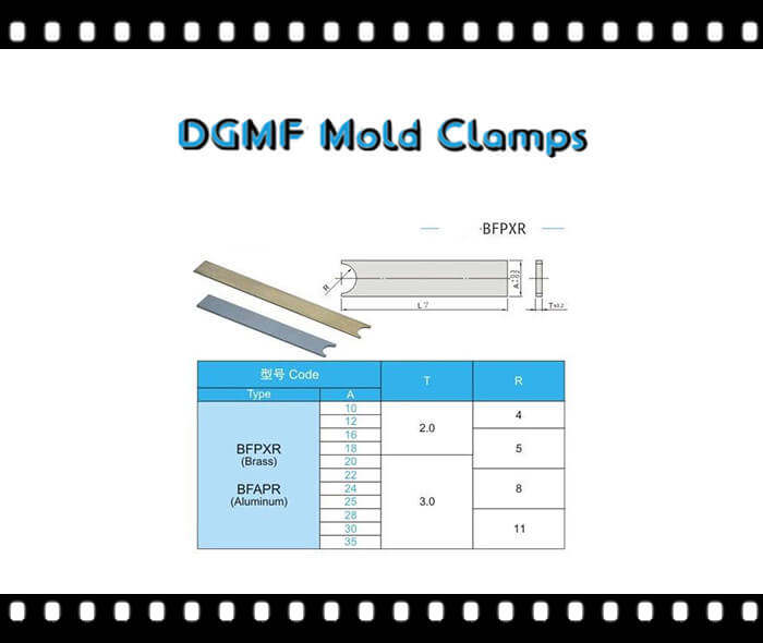 Mold Cooling Flat baffle boards BFPXR Drawing and specifications