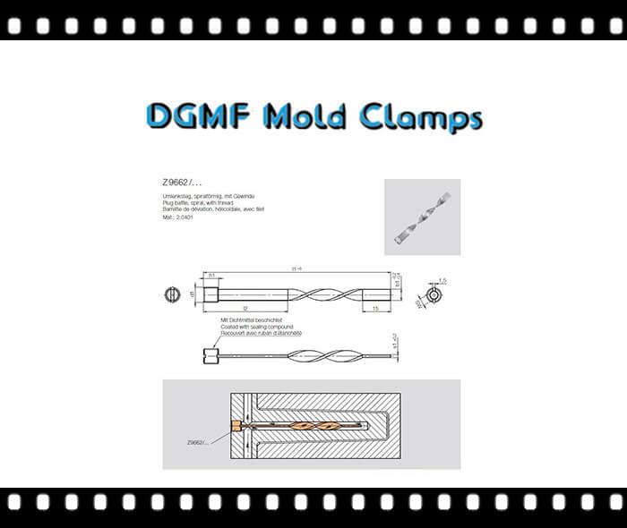 Mold Cooling Z9662 spiral plug baffle drawing