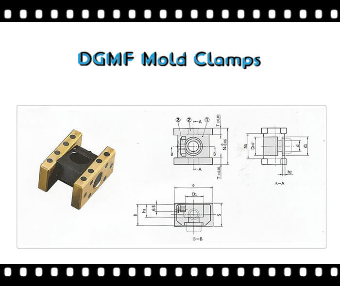 Oilless Slide Core Guide Units DGMF-099 Drawing