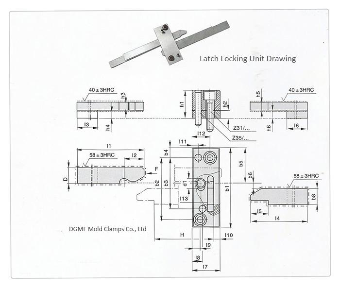 Progressive Mold Components Latch Locking Unit DGMF-082