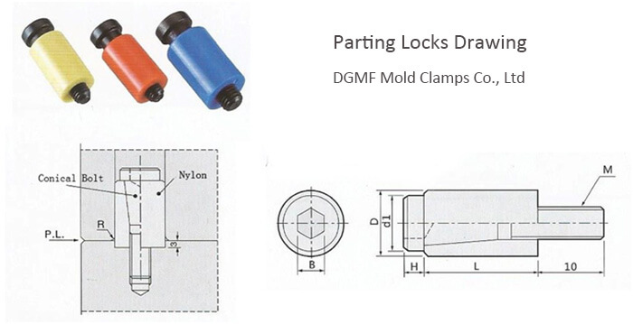 Mold Components Parting Locks Mold Drawing
