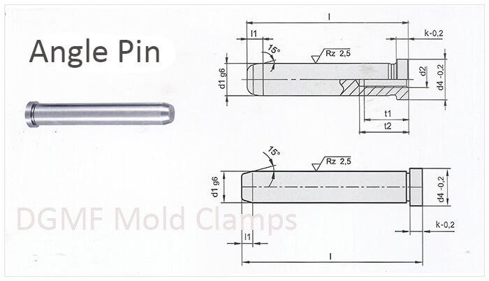 mold components angle pins drawing
