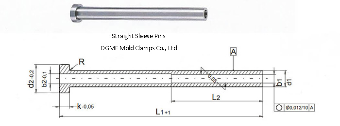 straight sleeve pins drawing