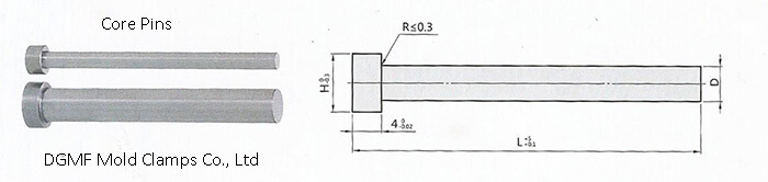 Mold Compenents -Core Pin drawing DGMF-011