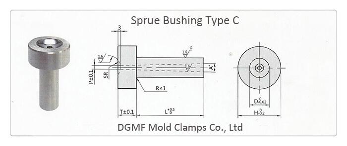Sprue bushing type c drawing