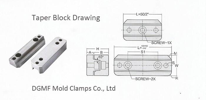 Taper Block set drawing