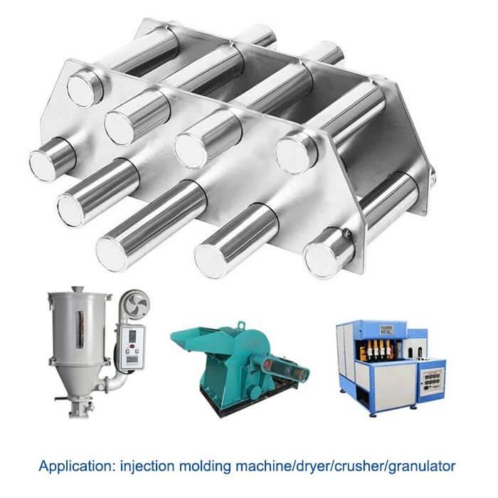 grate hopper magnet applications