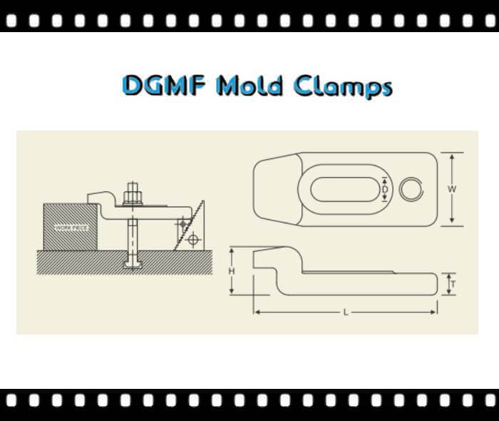 DGMF Mold Clamps Co., Ltd - Forged gooseneck mold clamp installation